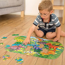 Load image into Gallery viewer, Big Dinosaurs A fantastic 50 piece dinosaur jigsaw puzzle by Orchard Toys that kids will love