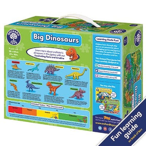 Big Dinosaurs Jigsaw Puzzle - Puzzle size 58 x 40cm approx. 50 pieces. Suitable for age 4+