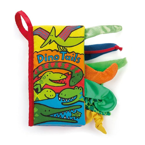 Jellycat Tails Dino Book - Say It Baby