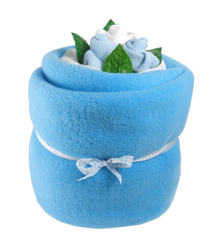 Blue Baby Blanket Bouquet - Say It Baby