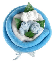 Load image into Gallery viewer, Blue Baby Blanket Bouquet - Say It Baby