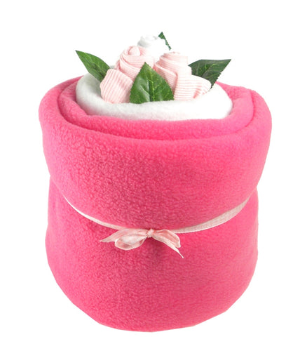 Pink Baby Blanket Bouquet - Say It Baby