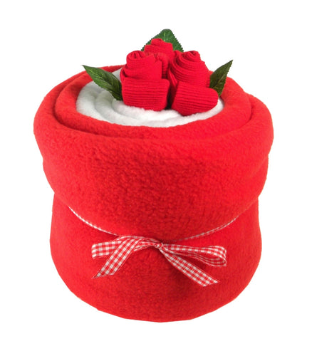 Red Baby Blanket Bouquet - Say It Baby
