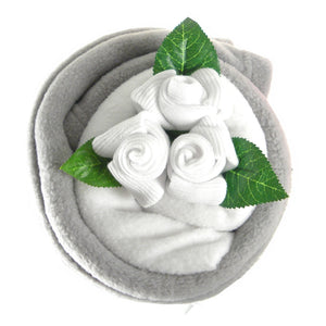 Silver Baby Blanket Bouquet - Say It Baby