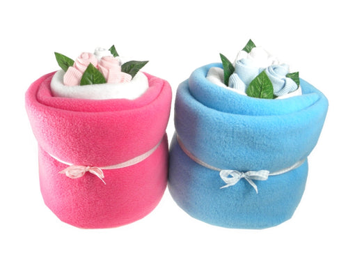Twin Baby Blanket Bouquets (Colour Options Available) - Say It Baby
