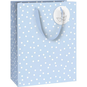 Blue Spotty Gift Bag - Say It Baby
