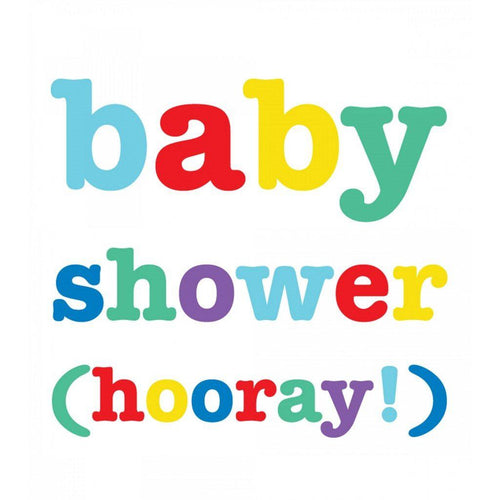 Baby Shower Hooray Card - Say It Baby
