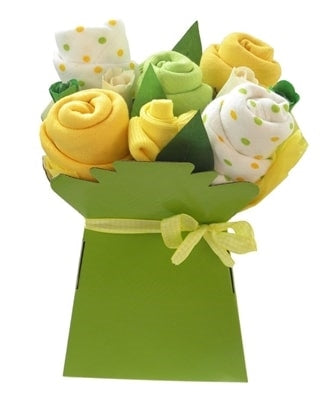 Say It Baby - Bright Baby Muslin Square Bouquet - Say It Baby