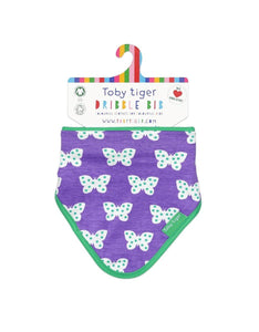 Toby Tiger Organic Butterfly Dribble Bib - Say It Baby
