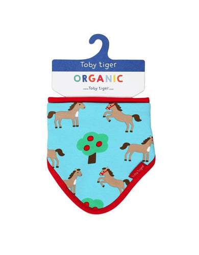 Toby Tiger Organic Horse Dribble Bib - Say It Baby