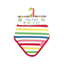 Load image into Gallery viewer, Toby Tiger Multi Pink Stripe Dribble Bib