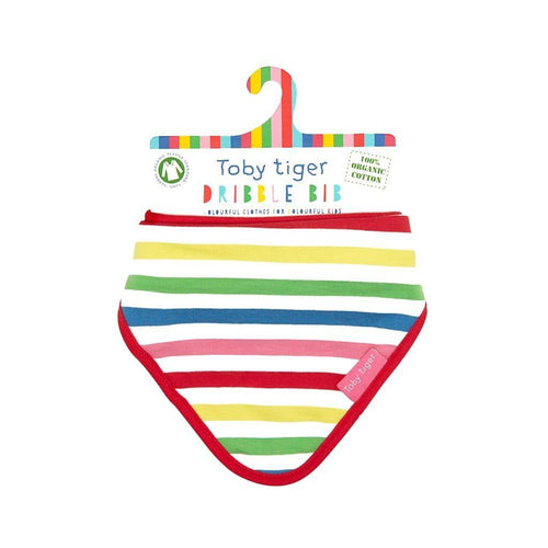 Toby Tiger Multi Pink Stripe Dribble Bib - Say It Baby
