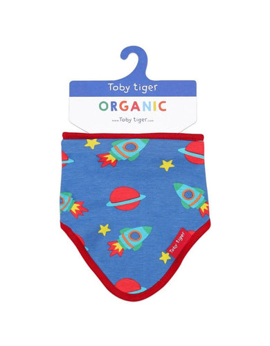 Toby Tiger Organic Space Dribble Bib - Say It Baby