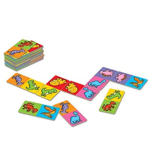 Dinosaur Dominoes  - match the friendly dinosaurs in this great mini game by Orchard Toys.
