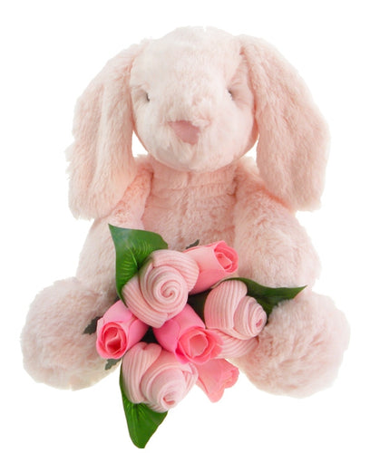 Baby Girl Bunny and Sock Bouquet - Say It Baby