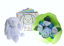 Load image into Gallery viewer, Jellycat Boy Bunny Baby Bouquet Gift Set - Say It Baby