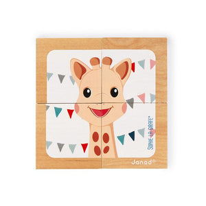 Janod Sophie La Girafe Block Puzzle - Say It Baby