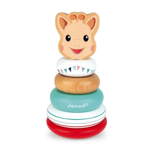 Janod Sophie La Girafe Stackable Roly-Poly Toy - Say It Baby