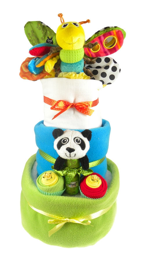 Lamaze 3 Tier Baby Boy Nappy Cake - Say It Baby