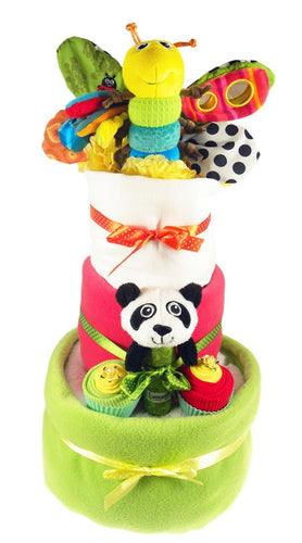 Lamaze 3 Tier Baby Girl Nappy Cake - Say It Baby
