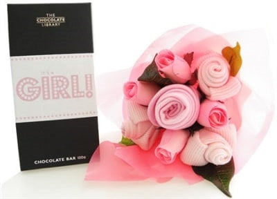 Say It Baby - It's A Girl Baby Bouquet Combo - Say It Baby