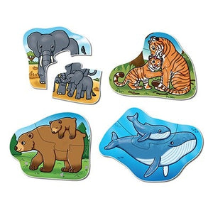 Made with thick chunky pieces, these first puzzles feature a range of animals such as penguins, giraffes, bears, whales, tigers and elephants