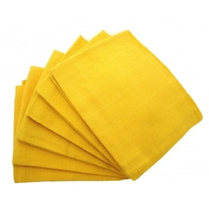 Muslinz - Yellow Premium Baby Muslin Squares (Pack of 12) - Say It Baby