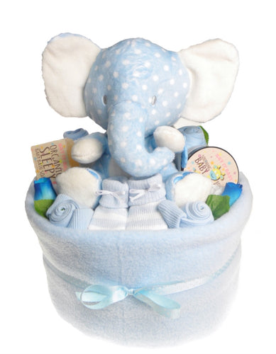 Baby Boy Nappy Cake Bouquet Arrangement - Say It Baby