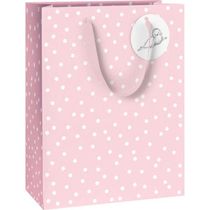 Pink Spotty Gift Bag - Say It Baby
