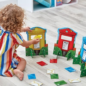 Orchard Toys Post Box Game - Match letters to the coloured post boxes in this single player activity or multi-player game