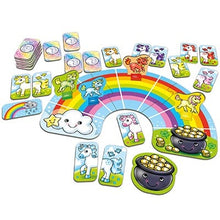 Load image into Gallery viewer, Race your unicorns over the rainbow in this fun colour matching game by Orchard Games.
