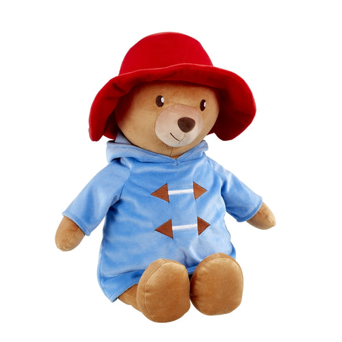 My First Paddington Bear - Made from soft plush material, Paddington has his signature red hat on and is wearing a removable blue coat with hood and embroidered detailing.
