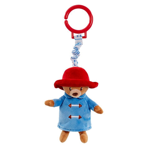 Paddington Bear Baby Jitter Toy - A perfect on-the-go toy featuring the lovely Paddington Bear with his signature blue jacket and red hat.
