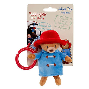 Pull the jiggle toy and watch as Paddington 'zips' back up. It also has a handy hoop and can easily be attached to a pram or car seat, making it the perfect toy for on-the-go.