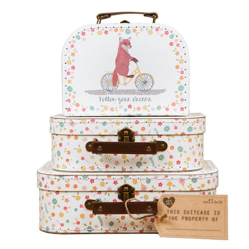 Sass & Belle Happy Animals on Bike Suitcase Trio - Say It Baby