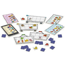 Load image into Gallery viewer, Shopping List Game - Players take it in turns to turn over cards showing everyday items, from tomatoes to washing powder to pizza. If they match the pictures on their shopping list, they are encouraged to say the item out loud and add it to their trolley