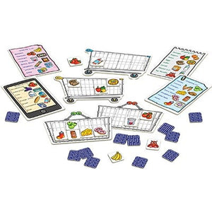 Shopping List Game - Players take it in turns to turn over cards showing everyday items, from tomatoes to washing powder to pizza. If they match the pictures on their shopping list, they are encouraged to say the item out loud and add it to their trolley