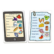 Load image into Gallery viewer, Orchard Toys Shopping List Game - The game features different types of quirky shopping lists, including paper ones and a tablet which children will enjoy.