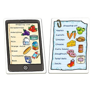 Orchard Toys Shopping List Game - The game features different types of quirky shopping lists, including paper ones and a tablet which children will enjoy.