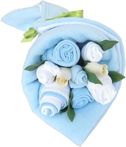 Say It Baby - Traditional Twin Baby Boy Clothes Bouquet - Say It Baby
