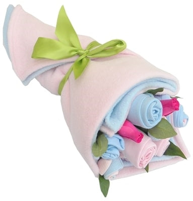 Say It Baby - Traditional Twin Baby Boy & Girl Clothes Bouquet