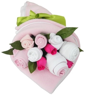 Say It Baby - Traditional Twin Baby Girl Clothes Bouquet - Say It Baby