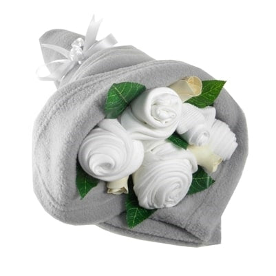 Say It Baby - Traditional Baby Silver Clothes Bouquet - Say It Baby
