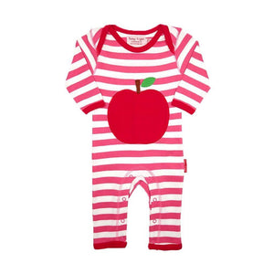 Toby Tiger Organic Red Apple Romper - Say It Baby
