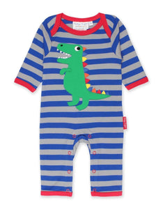 Toby Tiger Organic T-Rex Dino Sleepsuit - Say It Baby