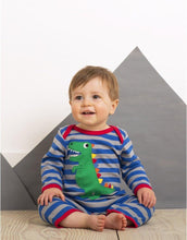 Load image into Gallery viewer, Toby Tiger Organic T-Rex Dino Sleepsuit - Say It Baby