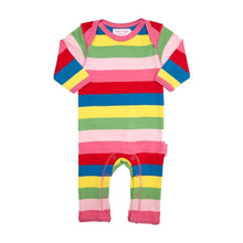 Load image into Gallery viewer, Toby Tiger Organic Girly Stripe Romper