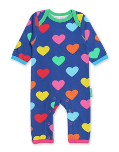 Toby Tiger Organic Multi Heart Romper - Say It Baby