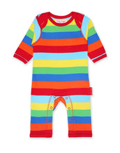 Load image into Gallery viewer, Toby Tiger Organic Multi Stripe Sleepsuit - Say It Baby