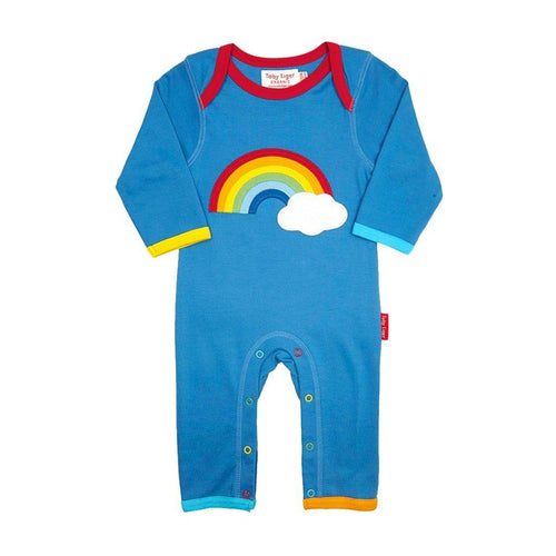 Toby Tiger Organic Rainbow Cloud Romper - Say It Baby